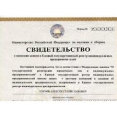 Свидетельство ОГРН индивидуального предпринимателя: основная информация